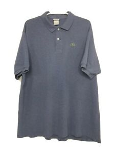 LACOSTE-Mens-Blue-100-Cotton-Croc-Logo-Short-Sleeve-Golf-Polo-Shirt-Size-9