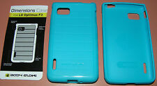 Body Glove Dimensions Case for LG Optimus F3, Teal, one piece thin Gel slip on