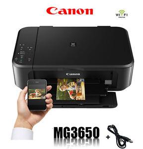CANON-MG3650-MULTIFUNKTIONS-WIFI-DRUCKER-SCANNER-KOPIERER-PRINTER-NEU