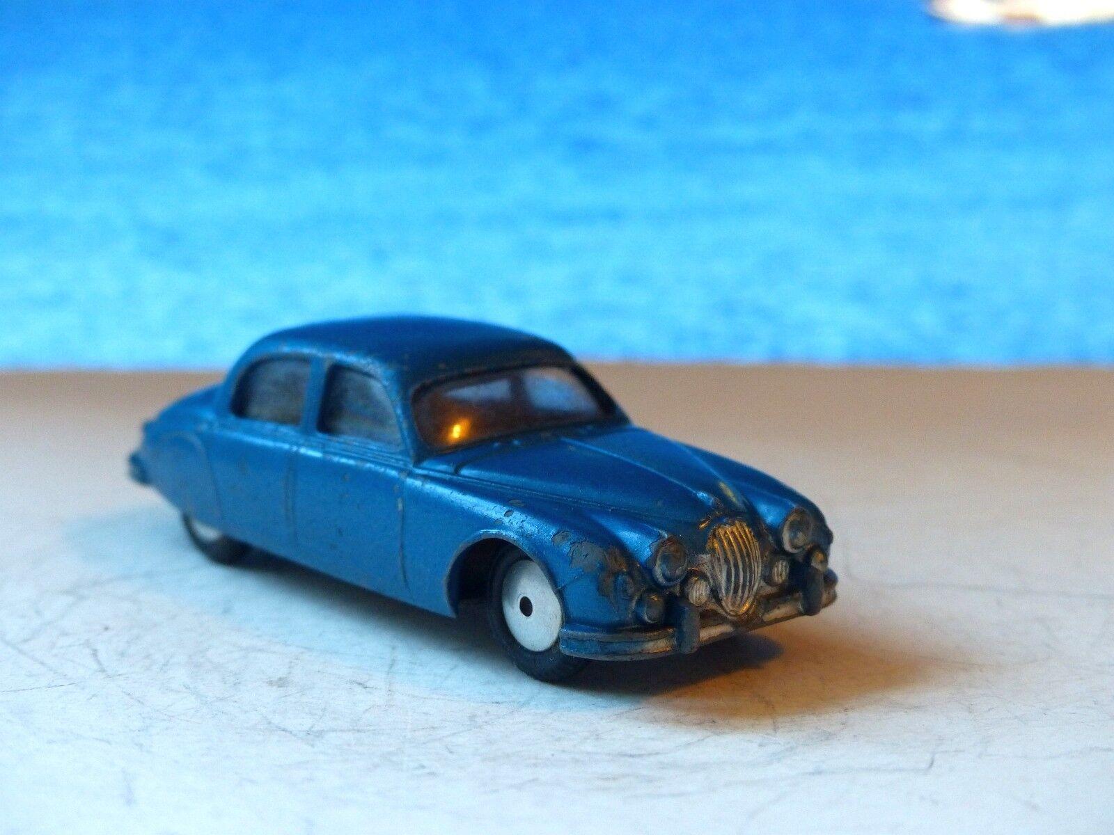 Corgi Toys 208M Jaguar 2.4 Litre with grau base