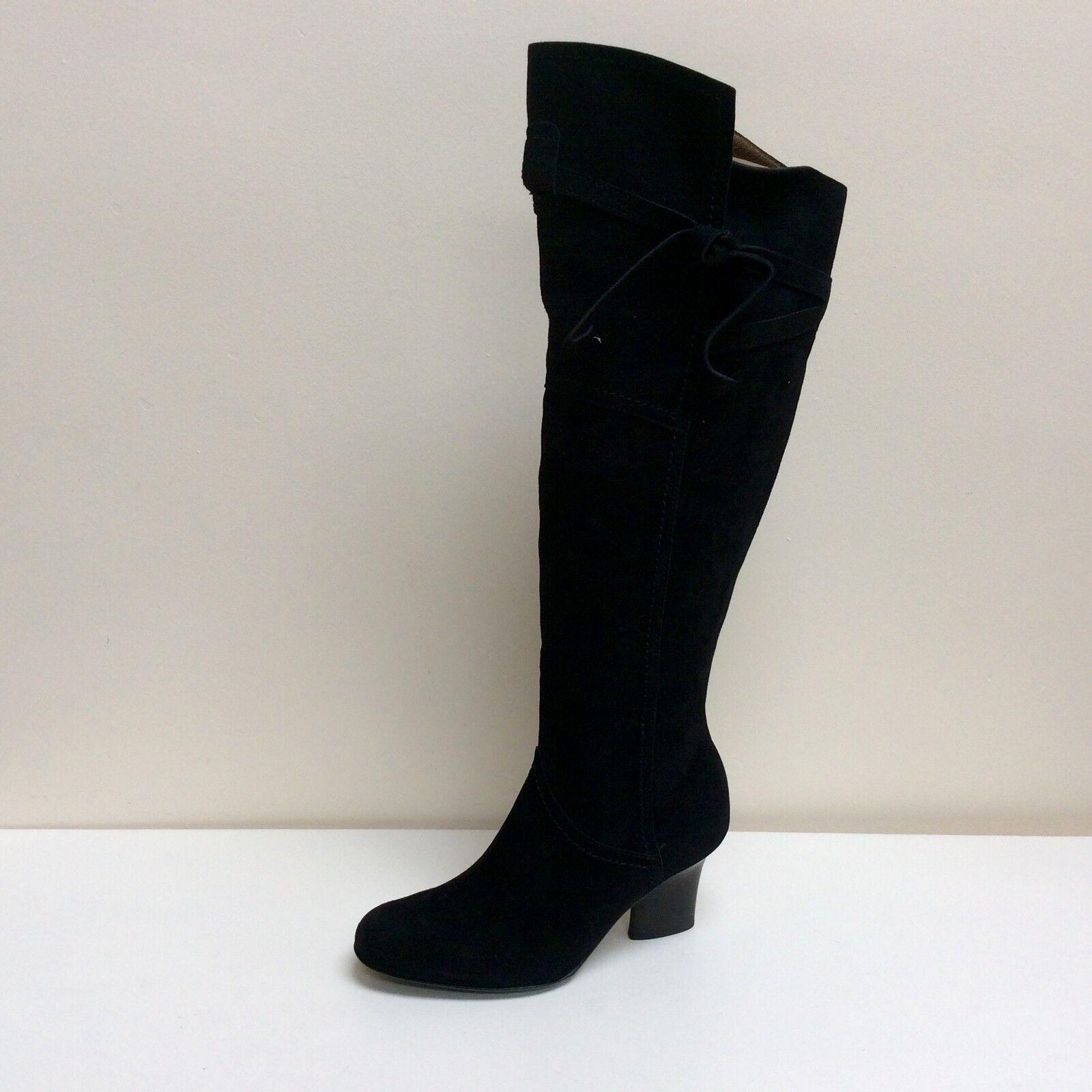 Peter Kaiser Jadin black suede knee high boots, UK 4.5/EU 37.5, RRP £229, BNWB