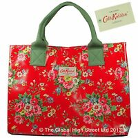 Cath Kidston Stand Up Tote Bag 100% Authentic Folk Flowers (red)