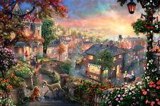 "Print Art on Canvas/Disney lady-and-the-tramp/Pidget/children Wall 12""×16"""