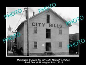 OLD-LARGE-HISTORIC-PHOTO-OF-HUNTINGTON-INDIANA-THE-CITY-MILLS-STORE-c1910