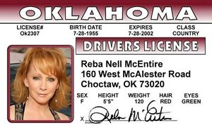 REBA-McEntire-Country-Music-Star-ID-card-Drivers-License