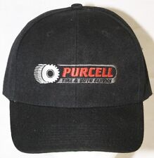 PURCELL Tire & Auto Service Snap Back Baseball Style Cap Hat Black NWOT