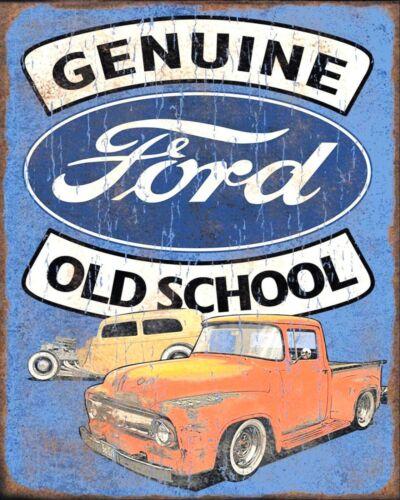 GENUINE FORD OLD SCHOOL CAR MECHANIC GARAGE WORKSHOP METAL PLAQUE TIN SIGN 448