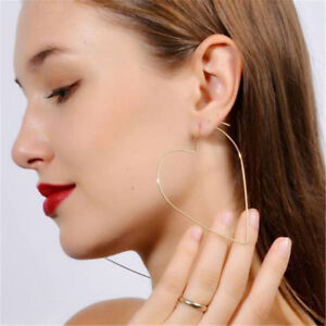 Popular-Women-039-s-Hollow-Simple-Large-Heart-Star-Shaped-Hoop-Earrings-Jewelry-Gift