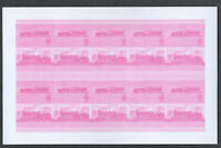St. Vincent Railway Locomotives Imperf Magenta Proof Sheet #S303