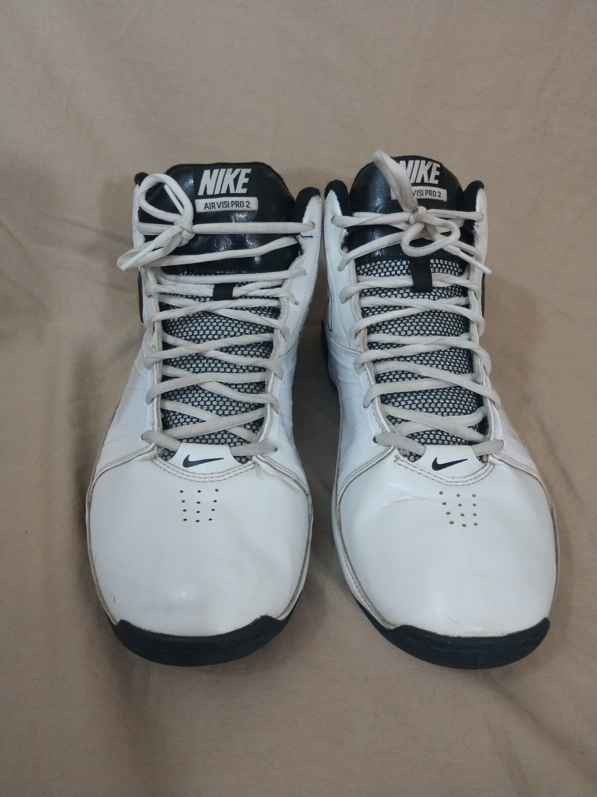 03a9261672d NIKE Air Visi Pro 2 White Basketball Athletic Shoes Shoes Shoes US 9  00315d