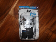 NWT Mens BURLINGTON 4 Pk White Premium Boxer Brief Sz XXL 2XL 44-46