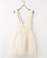 Authentic Liz Lisa Bustier Jumper Skirt Warm Winter White Dress Lolita Japan NEW