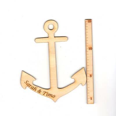 Anker 15 Cm Personalisiert Aus Holz Maritim Deko Meer Tisch- Wanddeko Geschenk Wir Haben Lob Von Kunden Gewonnen