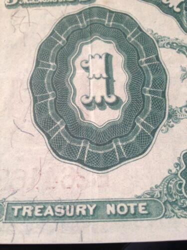Reproduction  $1 1891 Treasury Note Edwin Stanton Secretary War During Civil War