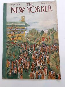 THE NEW YORKER VINTAGE COVER ONLY SEPTEMBER 8, 1934 -KARASZ