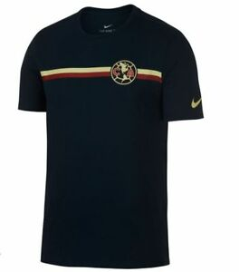 Nike Club America 2018 - 2019 Poly Crest Soccer Shirt New Navy Blue ... 02be71dae
