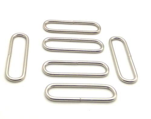 "50 mm 2/"" resistente alambre Oval Anillo de bucle Bolso Cinturón Collar de perro de níquel"