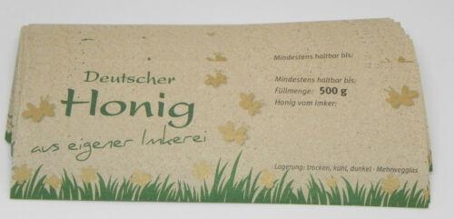 "100 Etiketten /""Natura/"",145x55mm f.500g Glas,Honig,nassklebend,Imker,Imkerei"