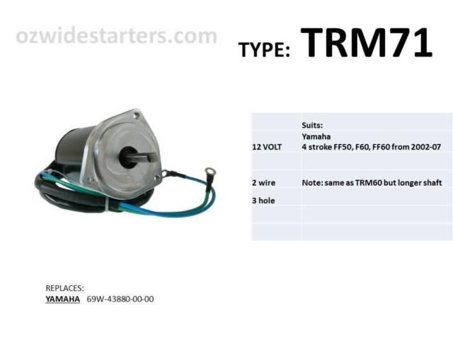 Yamaha Tilt Trim Motor  Suit 50hp-60hp 4 Stroke Models From 2002-2007