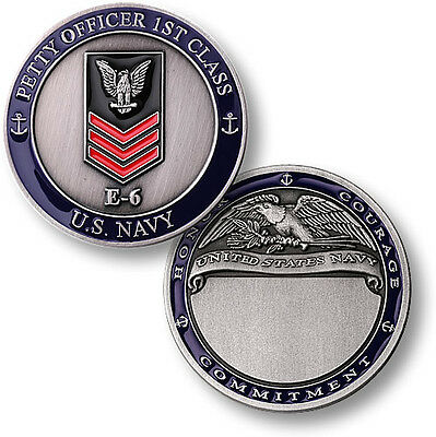 U.S. Navy / E-6 Petty Officer First Class - USN Challenge Coin