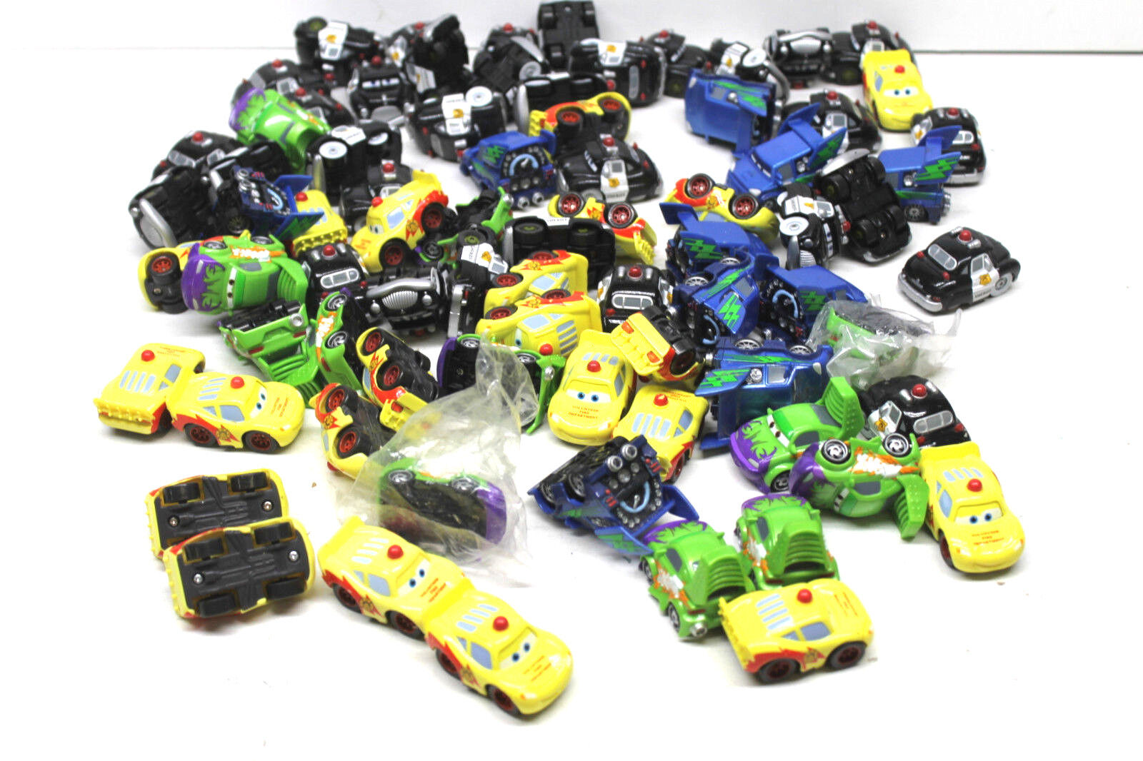 80 pc Pixar Cars the Movie Mercury Vehicles Sheriff+Volunteer Fire Department+++