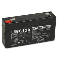UPG 6V 1.3Ah Replacement for Panasonic LC-R061R3P VRLA Battery with F1 Terminal