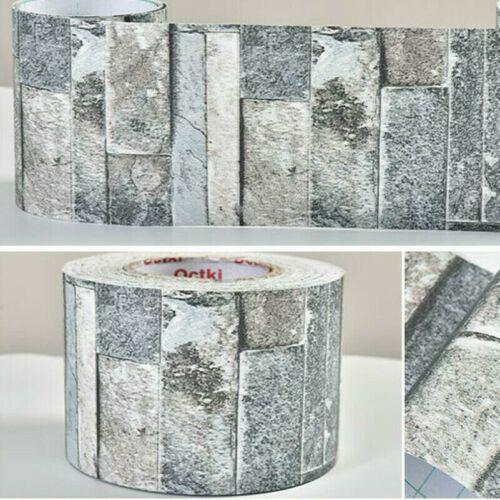 5M Selbstklebende Tapete Wandaufkleber Sockelleiste Bordüre Stein Bedruckt Dekor