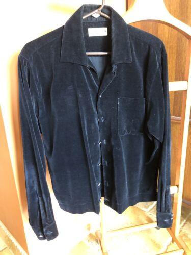 1950's Puritan Men's Cotton Black Velvet Long Slee