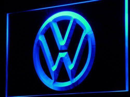 Volkswagen VW Car Logo Zimmer LED Schild Wanddekoration Pub Club On//Off