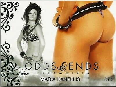 Hearty Maria Kanellis 2017 Benchwarmer Dreamgirls Odds & Ends Green Foil Sp 1/3 Nice Orders Are Welcome. Collectibles