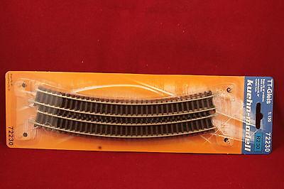 Kuehn 72220 Spur TT 6 x gebogenes Gleis R2 Radius 365 mm 20°//NEU