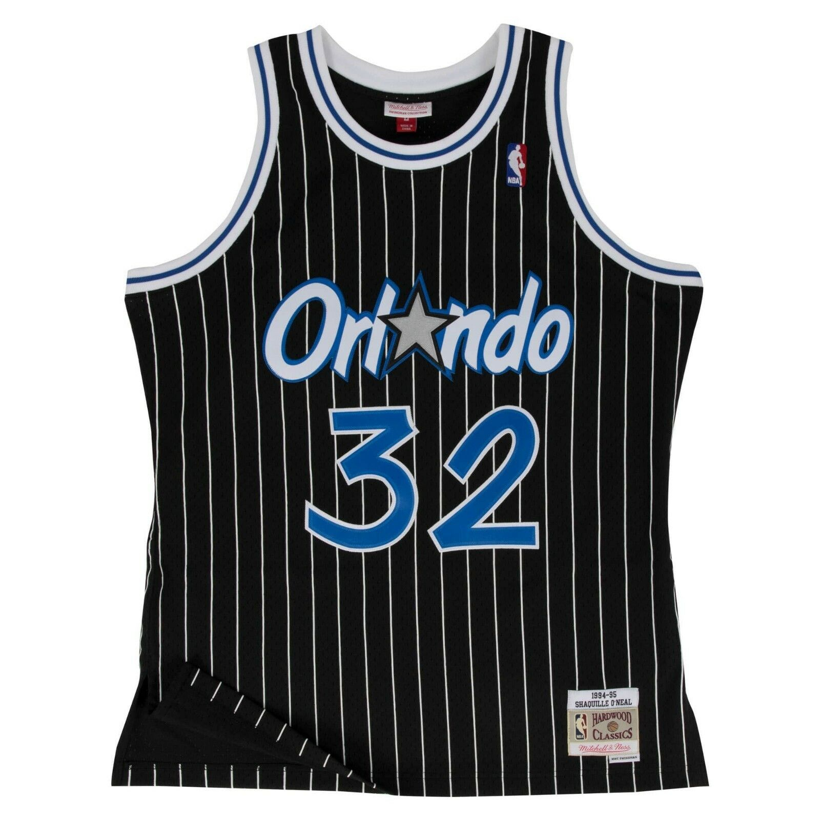 M & N NBA Orlando Magic Shaquille O'Neal Alt HWC Swingman Jersey (1994-95)