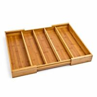 Seville Classics Expandable Bamboo Cutlery Drawer Organizer , New, Free Shipping on sale