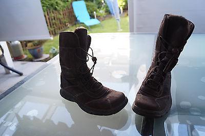 warme GINO VENTORI Damen Winter Schuhe Stiefel Boots Gr.37 braun gefüttert #87