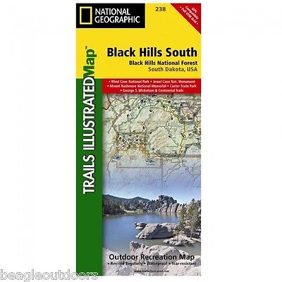 National Geographic Trails Illustrated SD Black Hills Nat Forest South Map  238   eBay