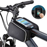 Bicycle Mobile Phone Double Bag Mountain Bike Frame Front Tube Handlebar Pouch