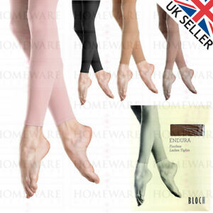 122706be20f8e Image is loading BLOCH-T0940L-LADIES-FOOTLESS-DANCE-TIGHTS-ENDURA-WOMENS-