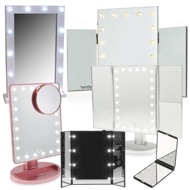 8 Led Illuminated Make Up Mirror, Battery Led Makeup Mirror