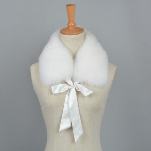 Winter Warm Real Fox Fur Scarf Women/'s Fashion Collar High Quality Shawls 67202