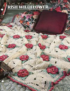 irish wildflower afghan annie s crochet pattern ebay