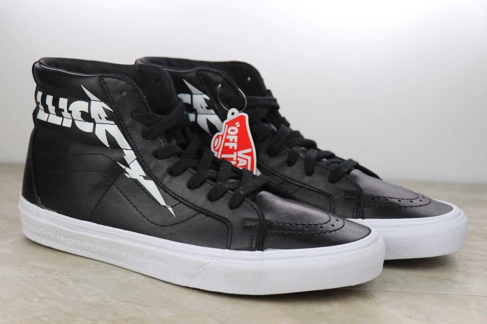 Vans Metallica SK8-Hi Reissue Black White Kirk Hammett Mens Shoes NIB Multi Size