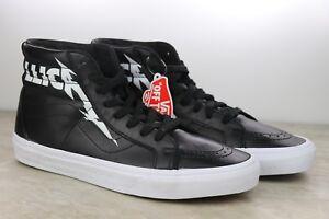 Détails sur Vans Metallica SK8 Hi Délivré Noir Blanc Kirk Hammett Chaussures Homme Nib Multi