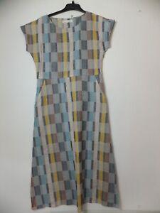 New Women's Seasalt Multicoloured Laurel Printed Summer Midi Dress UK 10 RRP £79