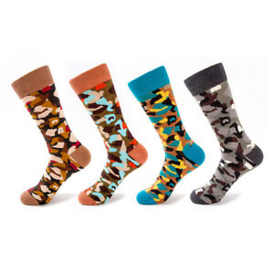 f8c6e20ffd1c NEW 4 Pairs Mens Camo Socks Lot Cotton Knit Warm Camouflage Casual ...