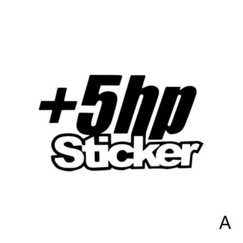 """Schwarz oder Wit C6G9 Auto-Vinylaufkleber Abziehbilder """"5 HP STICKER"""" Witz Weiß"""