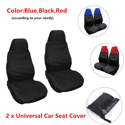 Front Pair MITSUBISHI L200 Heavy Duty Black Waterproof Car Seat Covers