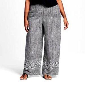 232767b06cb Womens Ava Viv Plus Size Geometric Print Wide Leg Palazzo Pants NWOT ...