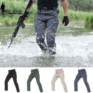 f2231d95d824 Image is loading Mens-Army-Tactical-Pants-Combat-Cargo-QuickDry-Lightweight-