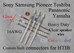 Details about 6c 4.2mm 16AWG speaker connectorplugs made for select sonysamsungPanasonic HT