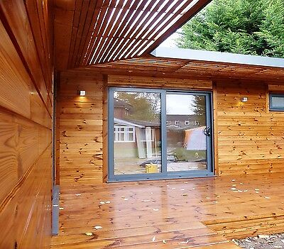 STOMHAUS LOG CABIN/GARDEN OFFICE/GARDEN STUDIO/GRANNY ANNEXE. PRICE IS PER SQ.M